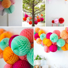 1Pc 10/15/20/25/30cm Honeycomb Paper Lantern Wedding Decorations Chinese Sky Lanterns Celebration Ball Clearance Sale(China)
