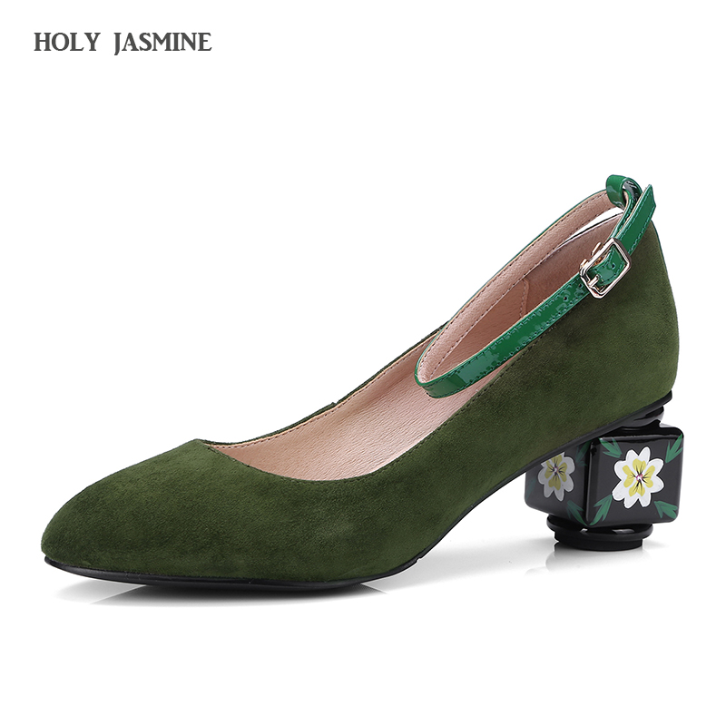 Summer shoes woman sandalias mujer zapatos sandale high heels wedding shoes 2018 Fashion fur Ethnic style womens pumps round toe<br>