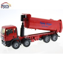 Metal Alloy Diecast Toy Tipper Wagon Truck Model Damper Truck 1:50 Tilting Cart Engineering Truck Collection Action Toys(China)