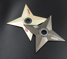 Naruto rotating shuriken,Bearing rotating darts, cos props,Anime weapon model toys, toy knife, gifts for children.(China)