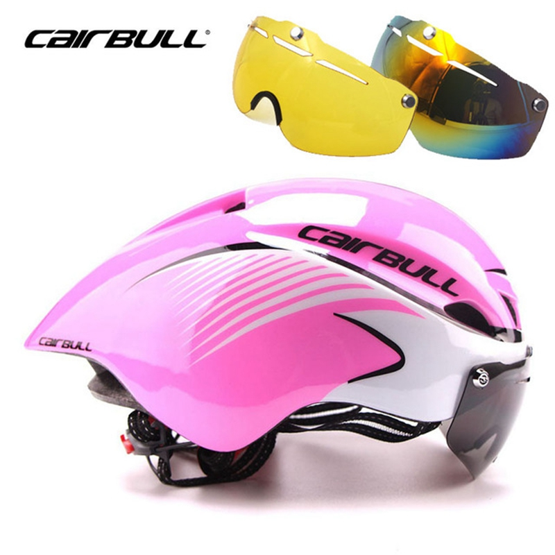 CAIRBULL Bicycle Helmet Integrally-Molded Aerodynamic Sport MBT Safe Cycling Helmet 3 Lens/Set Goggle Bike Helmet<br>