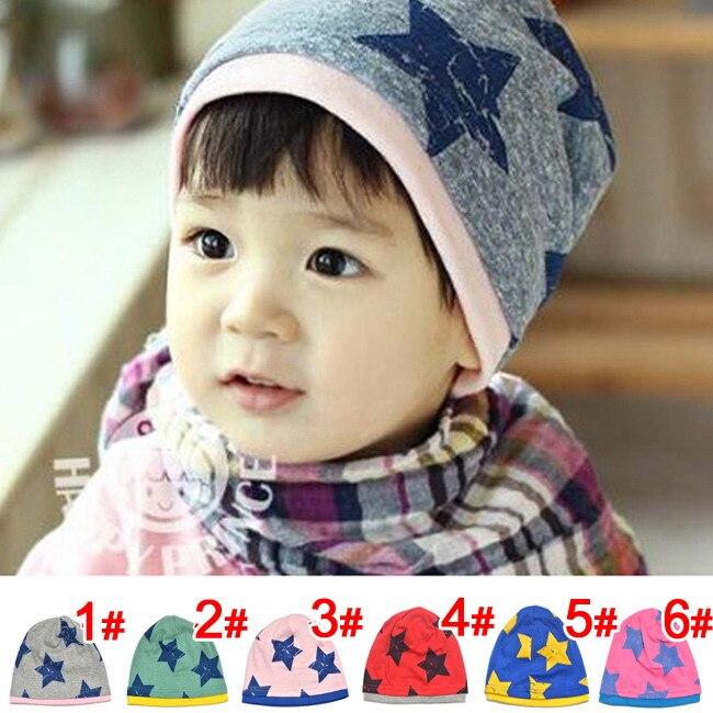 Free Shipping Big Five Star Cotton Beanie Hats Skull Cap For 1-4 Years Toddler Infant Baby Winter Children Warm AccessoriesÎäåæäà è àêñåññóàðû<br><br><br>Aliexpress