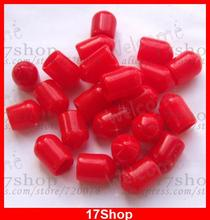 200PCS SMA Plastic Protection covers Dust cap Red for RF SMA female connector(China)