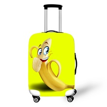 18 To 28 Inch 3D Cartoon Yellow Luggage Protective Covers Elastic Suitcase Cover Travel Luggage Cover Dust Protection Cover