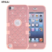 Glitter Case for iPod Touch 5 6 5th 6th Generation Silicone Case Girls Fashion Luxury Diamond Rhinestone Bling Armor Hard Cover(China)