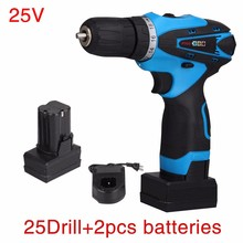 HILDA 25V Lithium Battery household wireless electric drill Torque drill bits Hand Drill electric screwdriver wrench power tool