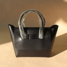 Viewinbox mini tote bag cowhide split leather brief designer brand soft fashion black grey cover wing women's shoulder bags