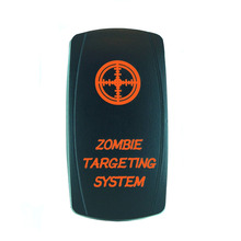 High Quality 5 Pin Laser Backlit Orange Rocker Toggle Switch ZOMBIE TARGETING SYSTEM 20A 12V On/off LED Light [KG-036-4]