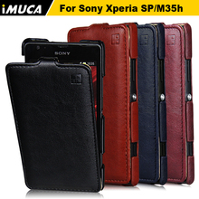 Cover for Sony Xperia SP Case Luxury Flip Leather Cover iMUCA mobile phone cases for Sony Xperia C5302 C5303 C5306 M35C M35h