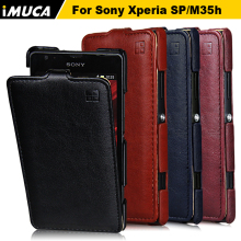 Cover for Sony Xperia SP Case Luxury Flip Leather Cover iMUCA mobile phone cases for Sony Xperia C5302 C5303 C5306 M35C M35h(China)