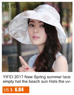bb176bdb1a5bb YIFEI 2018 New Spring summer lace empty hat the beach sun Hats the uv proof  Hats big beach hat in outer space Fashionable bonnet-in Sun Hats from  Apparel ...