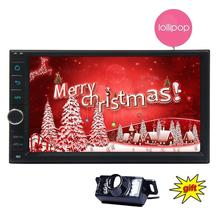 Double Din Quad Core 2 din Car Stereo Android 5.1 in Dash two din GPS Navigation Autoradio Bluetooth Support Mirror-link/GPS/SWC