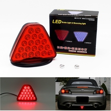 1Pcs 20 LEDs Car Truck Trailer Tail Light LED Brake Stop Signal Reversing Warning Lamp Red Color Triangl Strobe Styling Source