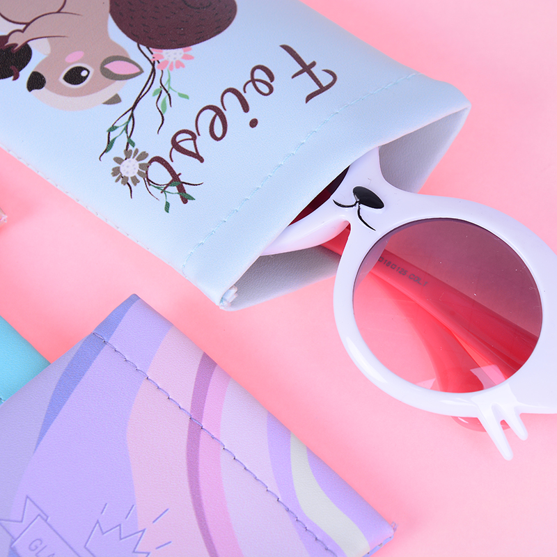Faux Leather Sunglasses Case Protable Eye Glasses Eyewear Protector Pouch Bag Wholesale