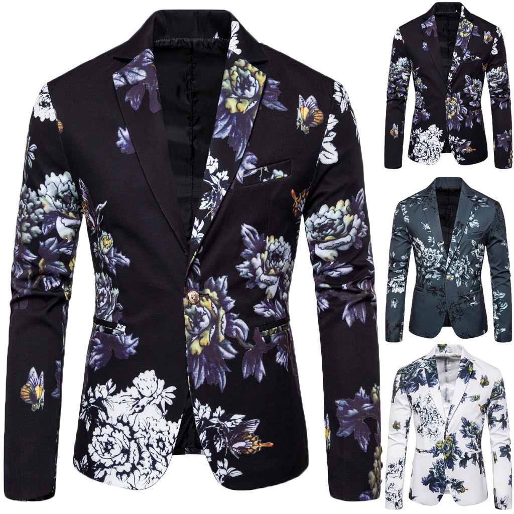 Suit Blazer Wedding-Party Men's Casual Stylish Costume Coat-Tops Business Outwear Traje title=