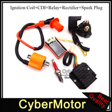 Racing Ignition Coil AC CDI D8TC Spark Plug Regulator Rectifier Solenoid Relay For 150cc 200cc 250cc Engine  Chinese ATV Quad