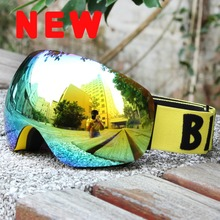 2017Benice New Coming Design Full Face Snowboard Googles Windproof UV400 Snowmobile Motorcycle Ski Goggles Eyewear SN-4500