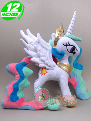 My Cute pp Cotton Unicorn Horse Princess Celestia Kawaii Plush Kids Toys Doll Birthday Christmas Gift(China)