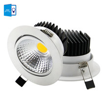 The new Super Bright Recessed LED Dimmable Downlight COB 5W 7W 10W 12W LED Spot light LED decoration Ceiling Lamp AC 110V 220V(China)