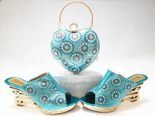 DYS7525, new design women shoes high heel Italian Shoes with matching Bags African shoes and bag to match high heel sandal