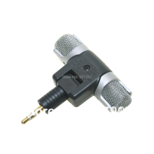 3.5MM ECM-DS70p NEW Electret Condenser Stereo Mini Microphone for sony iPhone 5 5s 6 6S plus Sansumg Table PC and More with logo