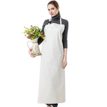 Long Apron Practical Unisex Adult Outsides Working  Cleaning Apron High Quality PU Waterproof Apron White/Green/Blue Color