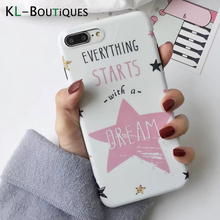 KL-BOUTiQUES Dream Star Case for Coque iphone 6 Case Frosted IMD Silicone Cover for iphone 7 6 6S Plus Cases Pink Capa Men Women