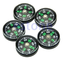 Free Shipping 5Pcs 20mm Button Shape Small Mini Survival Compasses For Outdoor Hiking Camping(China)