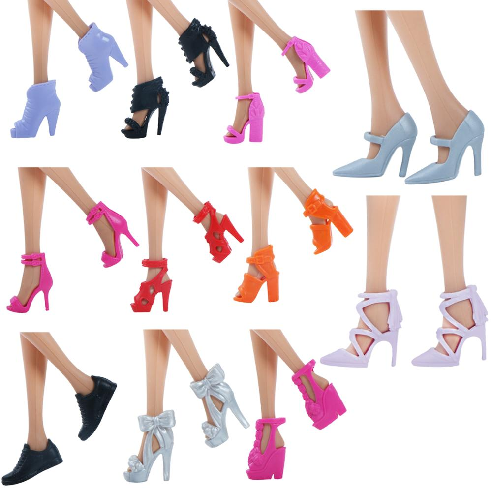 Randomly 40 Pairs Doll Shoes Assorted Colorful Heels for s Outfit Dress SP