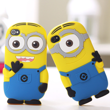 3D Cartoon Despicable Me Yellow Minions Case Cover Soft Silicone Material Case For iPhone 7 7 Plus 4 4S 4G 5 5S SE 5C 6 6S Plus