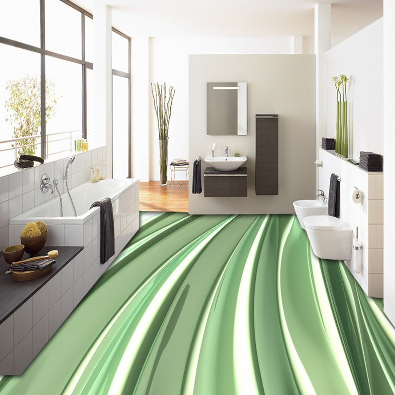 Free Shipping Creative lines flowing liquid 3D floor self-adhesive custom high-quality thickened living room lobby mural<br>