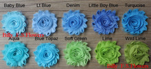 "Free DHL 145y/lot 59 color 2.5"" chic shabby chiffon flowers for girls hair accessories,chiffon headband flowers,headwear flowers(China)"