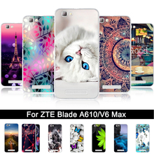 Soft TPU Cover For ZTE Blade A610 Painting Silicone Case for zte blade a610 Back Phone Covers Cases For ZTE BA610 V6 Max Shells(China)