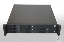 2U Server Computer case R2u480-8 Support ATX motherboard 8 hot pluggabel LCD real-time monitoring usb3.0(China)
