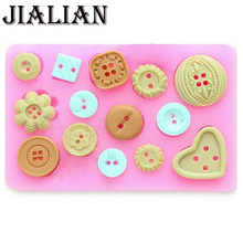Different shapes Button shaped Christmas wedding cake decoration silicone mold fondant sugar cooking tools bow mould DIY T0333