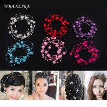 1.3 Meters Fishing Line Artificial Pearls Beads Chain Garland Flowers Wedding Party Decoration Products Supply Hair Accessories(China)