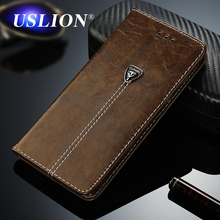 USLION Luxury Flip Leather Phone Case For iPhone 7 4 4s 5 5s SE 6 6 Plus Wallet Card Slots Flip Cases Cover For iPhone7 Plus