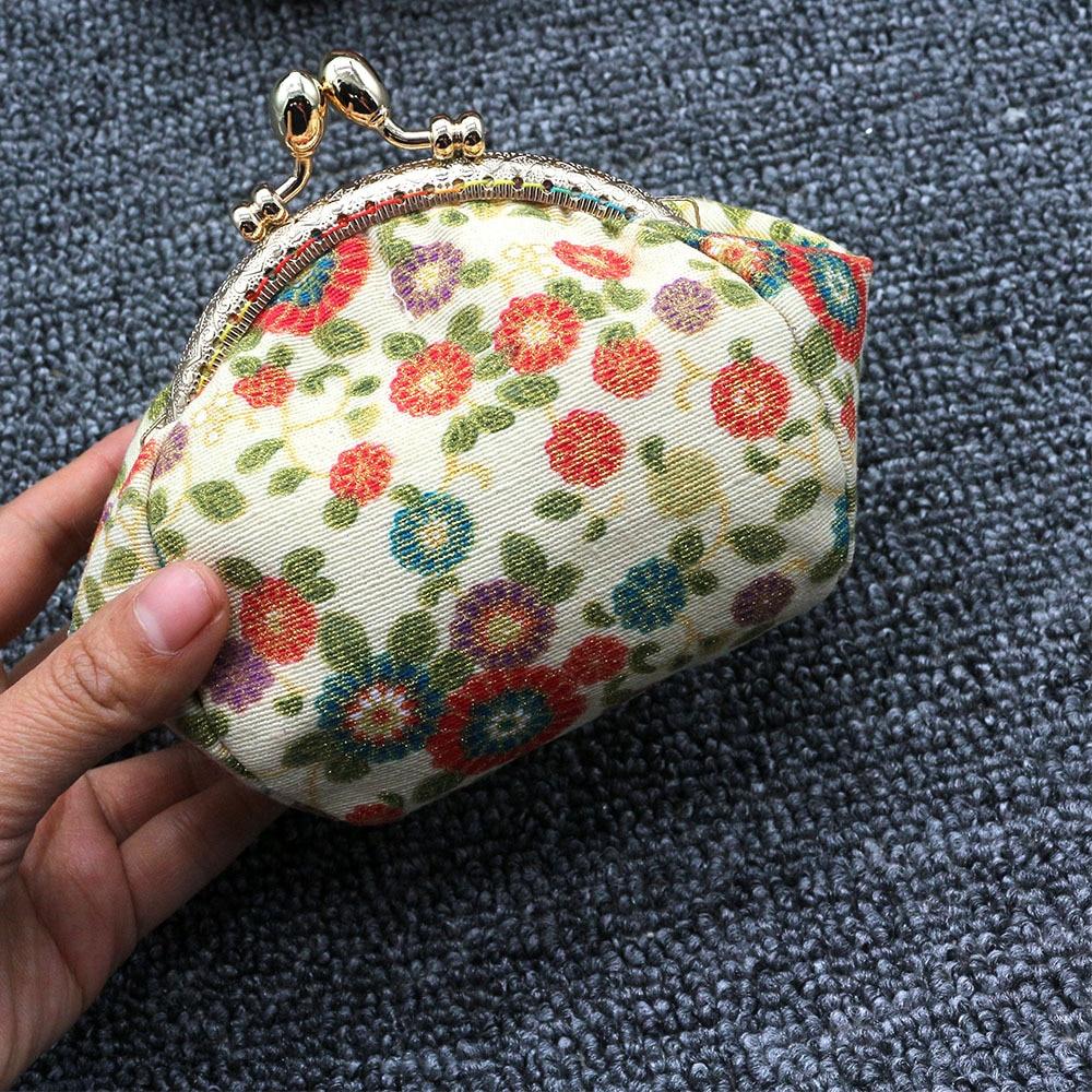 Mini Coin Purse Kiss Lock Girls  Change Purse Hasp Wallet women lady flower bags  (6)