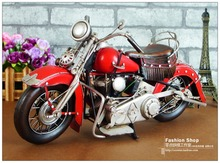 Antique classical motorcycle car model retro vintage wrought metal crafts for home/pub/cafe decoration or gift