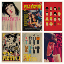 Pulp Fiction B gather retro Poster Retro Kraft Paper Bar Cafe Home Decor Painting Wall Sticker(China)