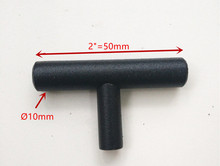 "(Diameter 10mm,Length:50mm) 2""  black  Furniture Hardware Kitchen Cabinet Handle, Bar Pull Handle Stainless Steel T Handles"