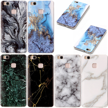 Head Case for Funda Huawei P9 Lite Mobile Case Luxury Silicone Marble Stone Soft Back Cover Phone Bags Cases Accessories P9 Lite
