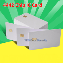 10pcs Per lot ISO 7816 White PVC Card with SEL 4442 Chip Contact IC Card  Blank Contact Smart Card