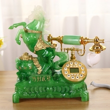 Green Antique telephone household telephone fashion rustic vintage phone(China)