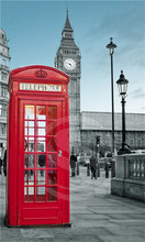 P#133 Custom London England red phone #i Home Decor modern For Bedroom Wall Poster Size 27x40cm Wall Sticker W@133(China)