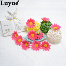 Luyue Official Store Fake Mini Silk Sunflower DIY Parts Artificial Flower Petals 4 colors 100PCS/lot For Garden Decoration Home(China)