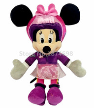 New Mickey And The Roadster Racers Minnie Plush Toy 35cm Stuffed Animals Cute Kids Toys for Children Girls Gifts
