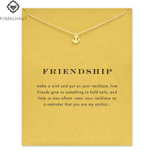 Sparkling friendship Anchor Pendant necklace Clavicle Chains Fashion Statement Necklace For Women FOMALHAUT Jewelry