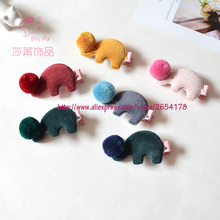 Shapu children's unique headdress hairpin flannelette areata elephant cute hair accessories hair clips for girls baby tiara kids