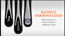 Qshave Black Spider Personalized Man Manual Shaving Razor Handle Can Design Name on Wingball Technology Handle, 1 pc (no blade)(China)